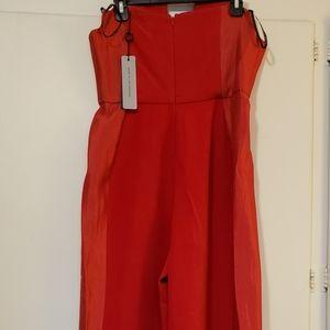 Sizzling Red, Black Halo Lena Tuxedo Jumpsuit